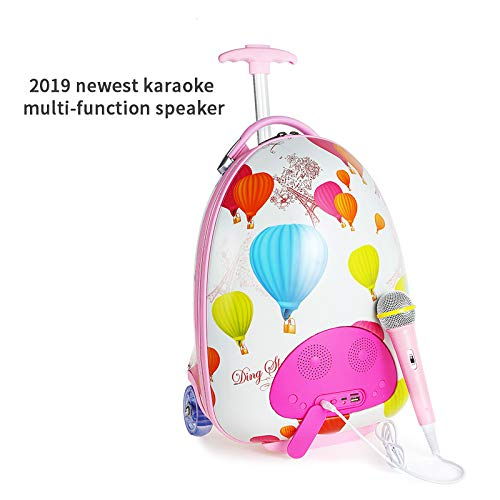 LUCKYBIRD Karaoke Machine for Kids Multifunctional Travel Luggage & Bluetooth Speaker with Microphone for Girls by LUCKYBIRD (Image #9)