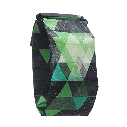 - Creative Waterproof Paper Watch Super Light Durable Digital Wrist Paper Watch with Magnetic System for Kids Men Women Boys Girls Teens (Triangle Green)