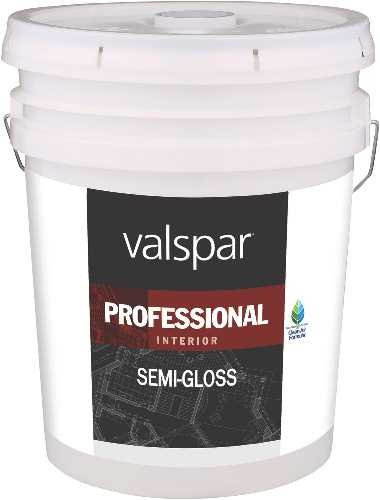 Valspar Paint GIDDS-134053 Interior High Hide Latex Paint White Semi Gloss, Gallon - 134053