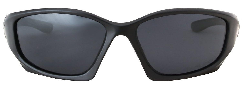 Hornz HZ Séries Pro - Lunettes de soleil Polarized Premium Cadre noir mat – Lentille de fumée noire cd1Cvc