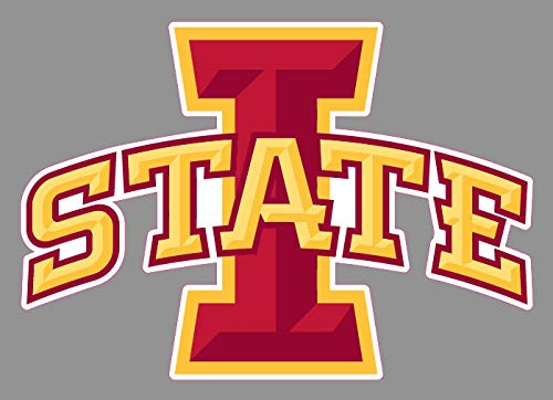 Crazy Discount Iowa State University Cyclones Premium Logo Vinyl Sticker Decal Outside Inside Using for Laptops Water Bottles Cars Trucks Bumpers Walls, 6