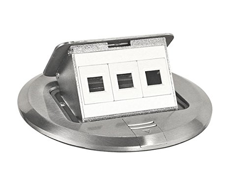 Stainless Floor Box Kit With Pop-Up Data Ports-1 per case