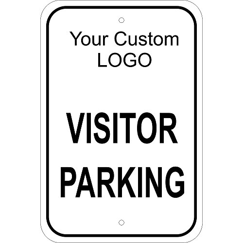Visitor Parking Sign w/ Customized Logo 12