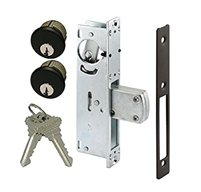 Adams Rite Style Door Lock Mortise Deadbolt & Double Keyed Cylinder Set, in Duronotic