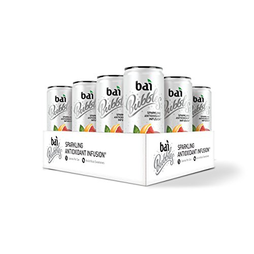 Bai Bubbles, Sparkling Water, Jamaica Blood Orange, Antioxidant Infused Drinks, 11.5 Fluid Ounce Cans, 12 count Blood Orange Flavor