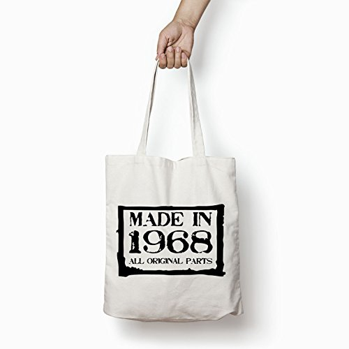 Shopper 1968 Printed in White Bag Bags Tote Made Gifts For Women Cotton xaXw8q