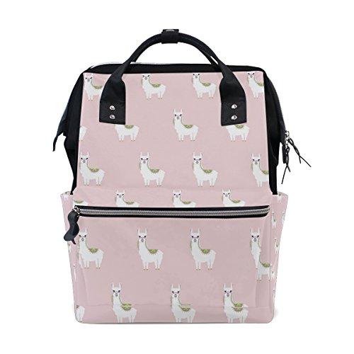 Large Capacity Backpack Cute Llamas Durable Travel Mom Double-Shoulder Bag