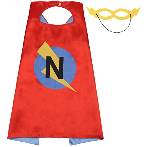 LYNDA SUTTON Initial Cape for Kids with 25 Letter for Choice,Capes for Child,Kid Birthday Party Supply 27.5