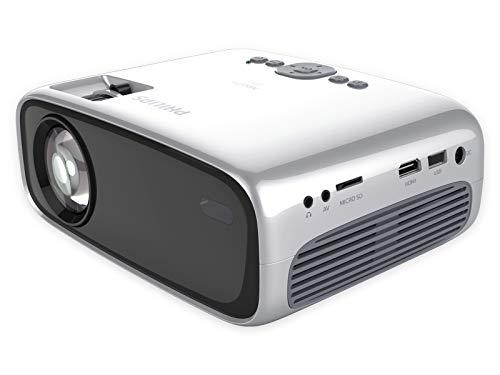 Philips NeoPix Easy, Mini Projector, 80-inch beeldscherm, ingebouwde mediaspeler, HDMI, USB, microSD, 3,5 mm audio…