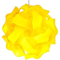 Lightingsky IQ Lamp Shade Toy Self DIY Assembled Puzzle Lights for Room Decoration (Yellow, XL-18 inch)