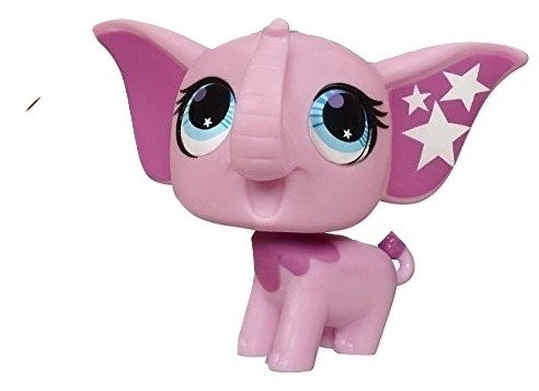 Littlest Pet Shop Pink Totally Talented Circus Elephant Stars on Ears Blue Eyes #2693 Replacement Part LOOSE//Packaged in Parts Bag LPS