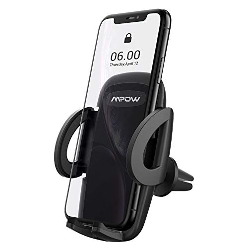 Mpow Car Mount, Vent Phone Holder, 360° Rotation Cell Phone Mount Compatible iPhone XS MAX/XS/XR/X/8/8Plus, Galaxy S6/S7/S8/S9, Google Nexus, Huawei and More
