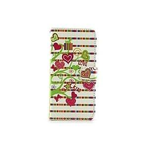 GX árbol de amor de la PU cuero caso de cuerpo completo y ranura para tarjeta para el iphone 6