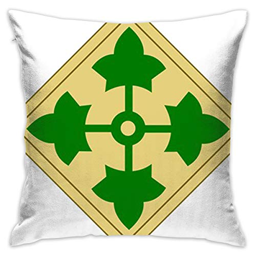 (Lolpdd U.S. Army 4th Infantry Division Throw Pillow)
