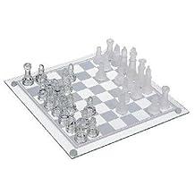 """Rhode Island Novelty 10"""" Glass Chess Set"""