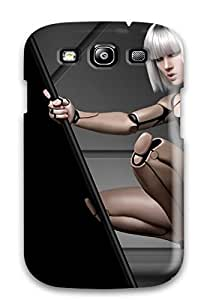 Faddish Phone Robot Girl Case For Galaxy S3 / Perfect Case Cover