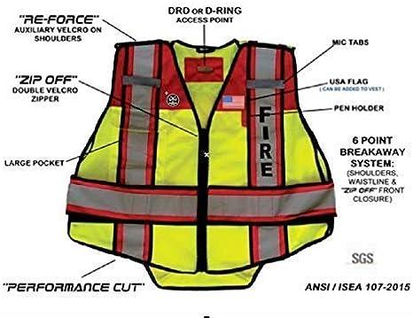 Amazon.com: Fire Ninja EMS chaleco reflectante clase 2 ...