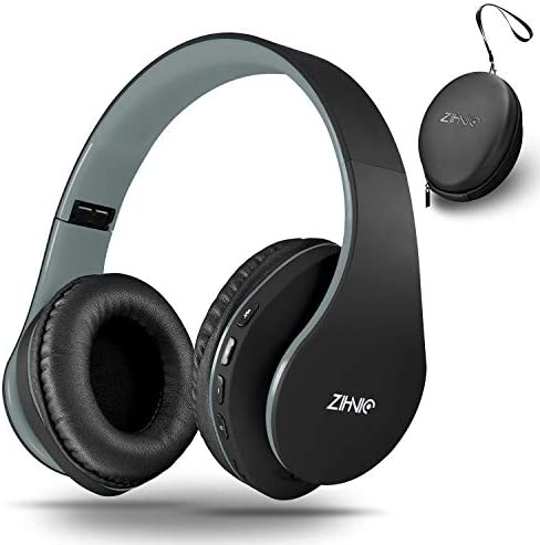 Bluetooth Headphones Over-Ear, Zihnic Foldable Wireless and Wired Stereo Headset