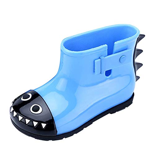 YIBLBOX Baby Infant Toddler Wellies Wellington Lovely Shark Rain Boots PVC Rain Shoes for 1-6 Years Old by YIBLBOX