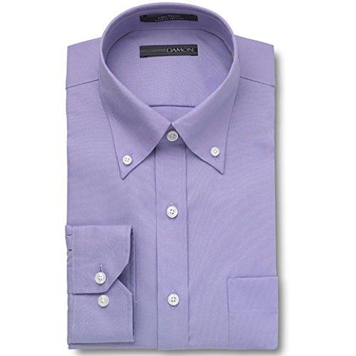 (Damon Ultra Pinpoint Dress Shirt | Button Down Collar Lavender 16 x 32/33)