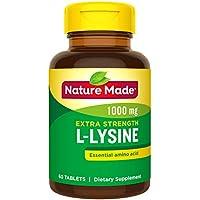 60 Count Nature Made Extra Strength L-Lysine 1000 mg Amino Acid