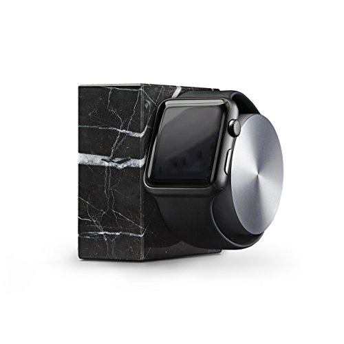 Native Union DOCK for Apple Watch (Luxury Tech) - Marble Weighted Charging Dock for Apple Watch (Black) by Native Union