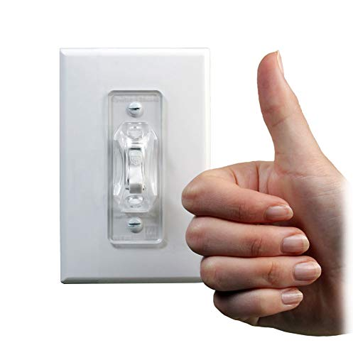Dual Option Wall Switch Guards (3 Pack) Clear Toggle Style by Switch Shield ON (Image #8)