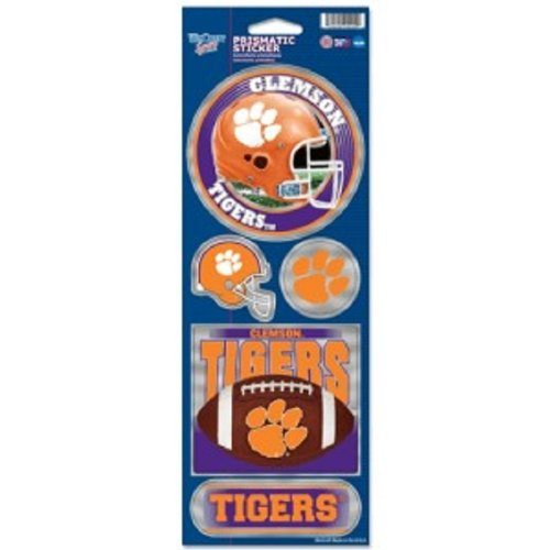 (Clemson Tigers Large 5 Pack of Holographic Stickers)