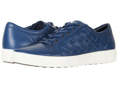 ECCO(エコー) メンズ 男性用 シューズ 靴 スニーカー 運動靴 Soft 7 Woven Tie - True Navy [並行輸入品] B07BLRPXJ9