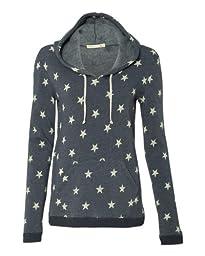 Alternative Ladies\' Athletics Hooded Pullover 9596 - Medium - Stars-Navy