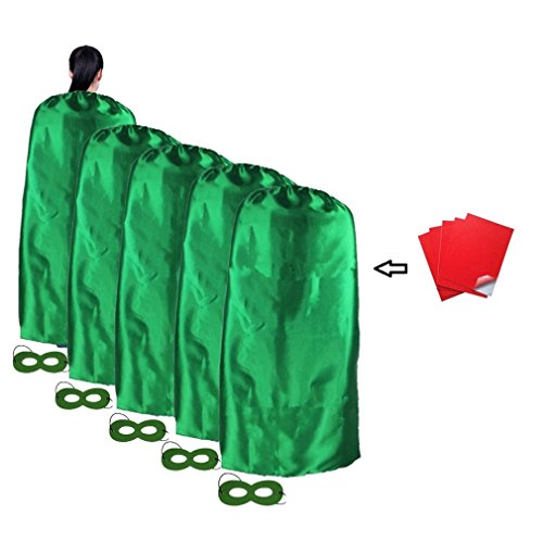 Ranavy Superhero Capes and Mask 5 Pieces For Adult No-sew No-glue DIY Party Costume Plain Color (Green) - Diy Halloween Costumes Green Dress
