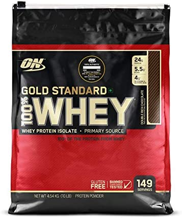 Optimum Nutrition 100 Whey Protein Gold Standard – Double Rich Chocolate 10 lb