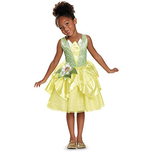 [Disguise Tiana Classic Disney Princess & The Frog Costume, Small/4-6X] (Princess Tiana Disney Costume)