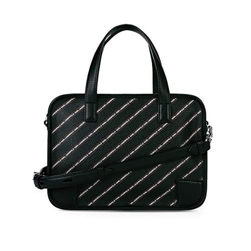 Karl STRIPE K BORSA BLACK Lagerfeld qqg7zrO