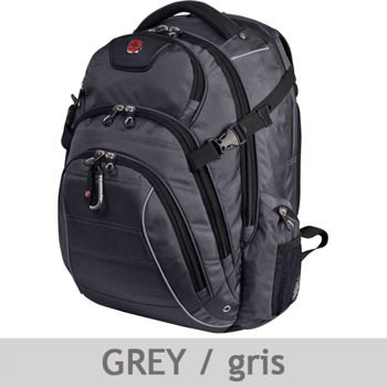 Swiss Gear 17.3 inches Laptop Backpack (Grey) - FULLY PADDED ...