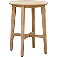Furnilac Round Accent Table with Cross Leg Support