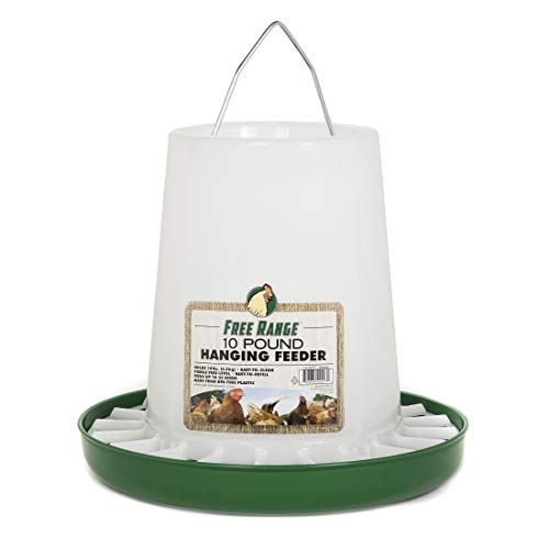 Free Range Plastic Hanging Poultry Feeder, 10 Pound