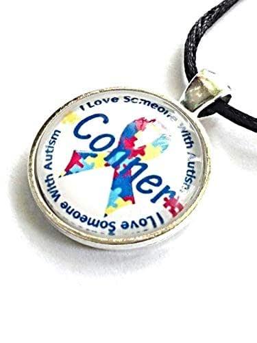 Amazon.com: Autism Awareness Personalized Name Necklace I ...