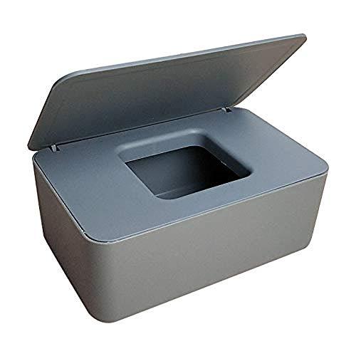 Jzenzero Wipes Dispenser, Dustproof Tissue Storage Box Case Wet Wipes Dispenser Holder with Lid for Home Office Desk