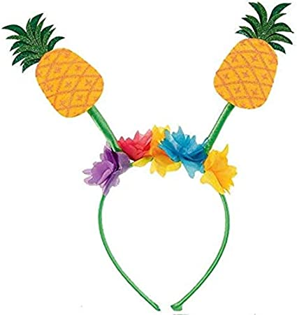 Amazon Com Amscan 397140 Summer Pineapple Flower Party Green Headband 10 25 X 10 Toys Games