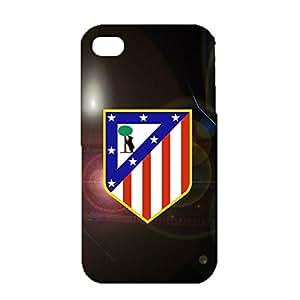 3D Atletico Madrid Phone Case for IPhone 4 4s , IPhone 4 4s 3D Atletico De Madrid FC Logo Cover Case Primera Division De Liga Wonderful Design