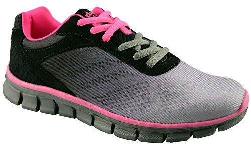 Dek Womens Synthetic Leather Running Shoes 10 Black FLTKOZUZ