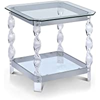 HOMES: Inside + Out IDF-4357E Addison End Table, Chrome