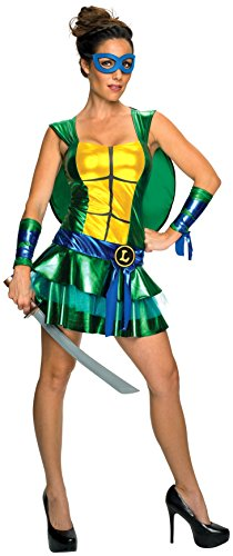 Secret Wishes Women's Teenage Mutant Ninja Turtles Leonardo Costume Dress, Multi, (Ninja Turtles Costumes Women)