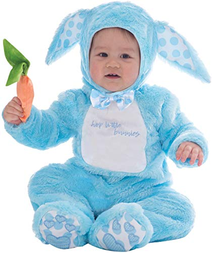 Baby Boys Girls Cute Little Blue Pink Bunny Rabbit Wabbit Easter Party Animal Carnival Celebrations Fancy Dress Costume Outfit 3 Months - 3 Years (6-12 Months, Blue) -