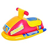 Balance Living® Inflatable Scooter Rider Pool Toy (Yellow)