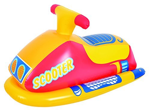 "Balance Living Inflatable Scooter Rider Pool Toy (31""L x 13""W) - Yellow"