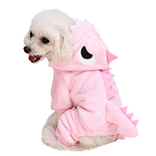 FTXJ Cute Dinosaur Transfiguration Coat Dress for Small Dog Girls Boys Winter Warm Sweater Coat Puppy Costume for Chihuahua/Yorkie / Keji/Bago ...