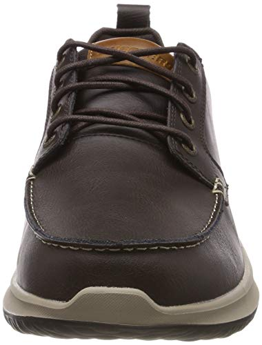Mocasines Hombre Delson elmino chocolate Skechers Para Chocolate Marrón BnE6qq