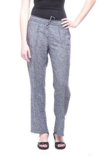 Alkii Missy Womens Wide Bottom Linen Pants With Pockets